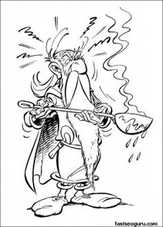 Printable Asterix Obelix coloring page - Printable Coloring Pages For Kids