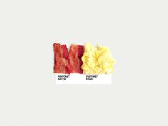 Food Art Pairings - Dschwen LLC. | Design & Illustration.  Creative twist on typical pantone colors!  *Based in Minneapolis.
