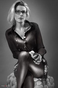 Femme chic et glamour