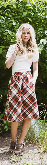 Plaid Skirt [MSF3902] - Mikarose Boutique, Reinventing Modesty
