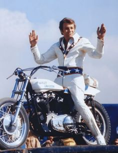 We thought we were Evil Knievel  Its a wonder I lived through it