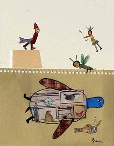 Tortuga Book Illustration, Illustrations, Hispanic Art, Inspiring Art, Pablo Picasso, Naive, Turtles, Collages, Fairytale