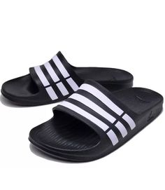 74bc380cf46 NEW ADIDAS MEN S DURAMO SANDALS SLIDES SIZE US 11  G15890NB BLACK   WHITE   fashion  clothing  shoes  accessories  mensshoes  sandals (ebay link)