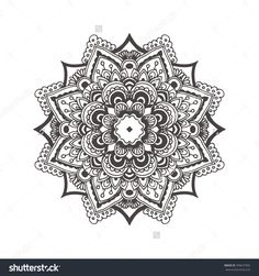Hand-Drawn Mandala With Ethnic Floral Doodle Pattern. Coloring Page - Zendala, Design For Spiritual Relaxation For Adults, Vector Illustration, Isolated On A White Background. Zen Doodles. - 399647965 : Shutterstock