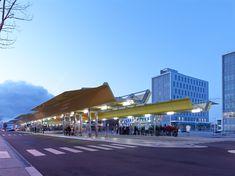 tetrarc architectes transforms transit hub PEM saint-nazaire - designboom