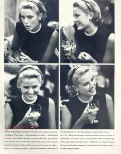 Grace Kelly, at the Cannes Film Festival, attending a cocktail party given by Alfred Hitchcock.