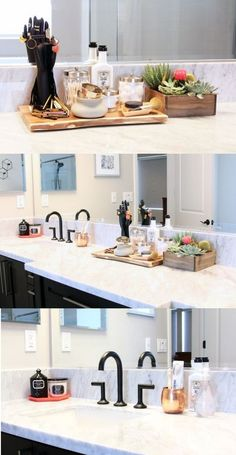 Gallery Website  designmilk gives a makeover to their master bathroom with easy storage and organization ideas from
