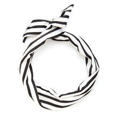 twist scarf - black and white stripe