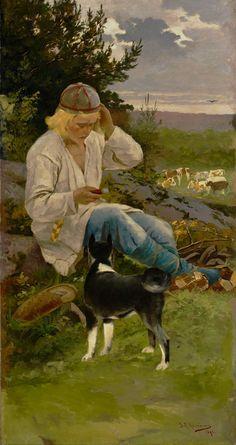 The Life and Art of Sigfried August Keinänen - Kullervo's flock , 1896, Atheneum Art Museum