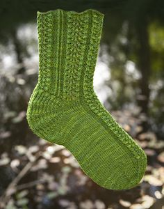 Mountain Colors Crazyfoot  Ravelry: Feather & Foliage pattern by Cat Bordhi