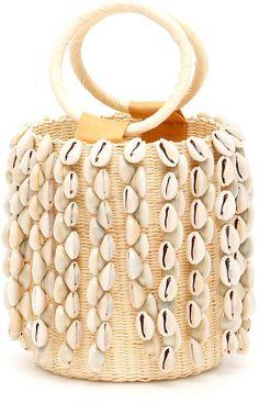 Sensi Studio Wicker Mini Bag With Cowrie Shells Diy Clutch, Summer Handbags, Popular Handbags, Diy Handbag, Beaded Purses, Little Bag, Knitted Bags, Vintage Handbags, My Bags