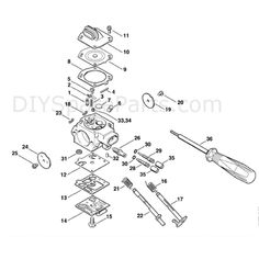 Stihl MS 290 Chainsaw (MS290) Parts Diagram, Carburetor HD-19B ...
