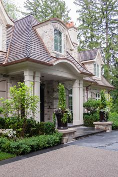 Copper gutters and accents