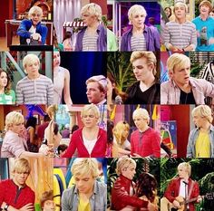 Ross Lynch<3<3<3 hahaha is tongue is sticking out in every one of the pics!!!! Reminds me someone else I know ;)