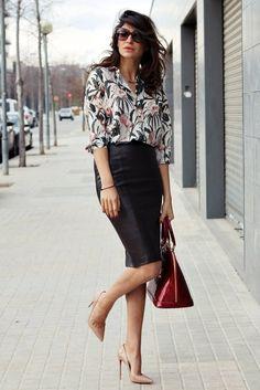 22 Trendy Street Style With Tube Skirts via allforfashiondesign.com
