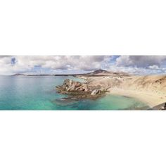 Cliffs on the beach Papagayo Beach Lanzarote Canary Islands Spain Canvas Art - Panoramic Images (36 x 12)