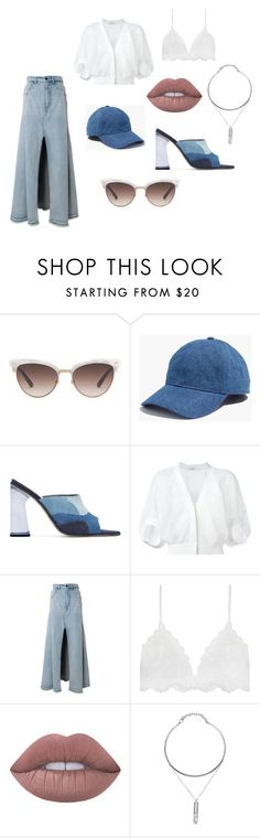 """""""Cool Breeze"""" by albywityou on Polyvore featuring Gucci, Madewell, Amélie Pichard, Givenchy, Alexander Wang and Lime Crime"""