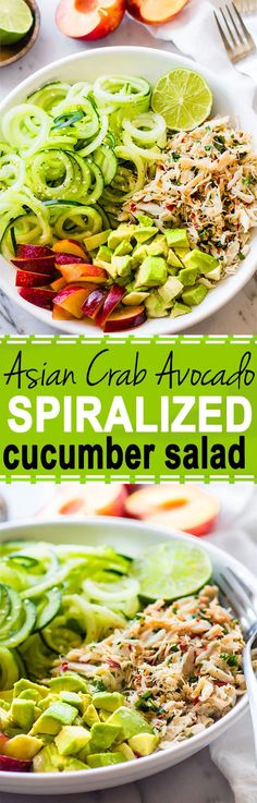 Asian Crab and Avocado Cucumber Salad (Paleo, Gluten Free)