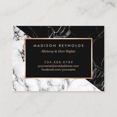 Black White Marble Beauty Salon Aftercare Card Black White Hair, Black And White Love, Black And White Marble, White Nail, White Hair Salon, Black Makeup Artist, Beach Canvas Wall Art, Beauty Business Cards, Salon Names
