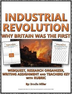 000 Industrial Revolution Inventors and Inventions Chart and