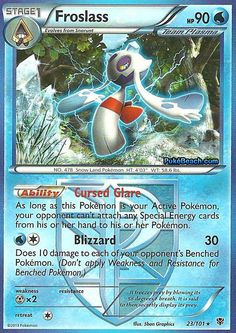 1 x Froslass Black Pokemon, Deck Design, Pokemon Cards, How To Apply, Black And White, Christmas Ornaments, Holiday Decor, Ebay, Cards