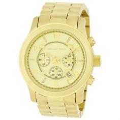 2e17ecf2a00f Buy Mens Watch Michael Kors Gold Tone Quartz Date Chronograph Link Bracelet  M