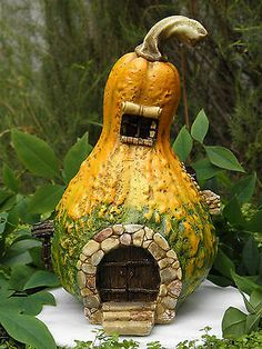 Miniature Dollhouse FAIRY GARDEN Gnome Village LIGHT UP Cottage House | eBay