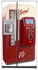 Appliance Magnetic Refrigerator Skin | Magnetic Side By Side Refrigerator  Covers | Vending Art Magnet Skins