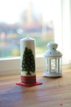Christmas candle  More: https://www.facebook.com/elais.design/