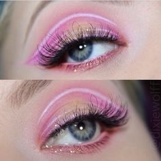 """Sweet princess eyes by @dixiewolff using #sugarpill Dollipop and Flamepoint eyeshadows! """