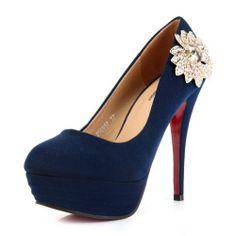 #queenfashion  #fashion #shoes #sexy #pumps #heels #flats #Flower,Blue,36