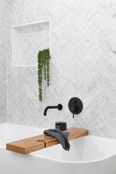 Tile Shower Niche, Bathroom Niche, Bathroom Marble, Bathroom Tile Designs, Downstairs Bathroom, Bathroom Renos, Bathroom Layout, Bathroom Renovations, Bathroom Interior