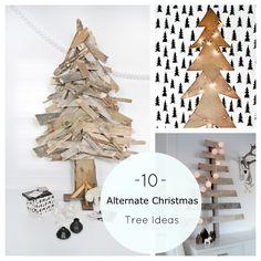 10 Fun Alternate Christmas Tree Ideas