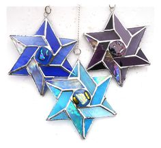 Star of David Suncatcher Stained Glass Colour Choice - The British Craft House Craft House, Star Of David, Dichroic Glass, Love Gifts, Suncatchers, Colored Glass, Home Crafts, Different Colors, Stained Glass