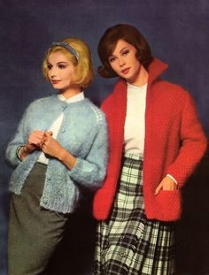 1962 - Mohair Hand Knits. Itched like crazy.