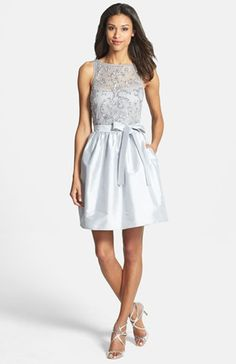 Aidan Mattox Embellished Taffeta Dress