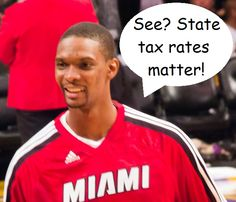 "The Miami Heat's Chris Bosh didn't get much love after his Game 1 performance, but there is some good news: When SI released its ""Fortunate 50"" list of the highest paid athletes in 2013, Bosh was ranked 47th. He jumped to the 31st spot once state and local income tax rates were factored in: http://bit.ly/172rjPD"