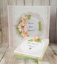 Christening set card and box