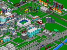 town cartoon isometric - Google Search
