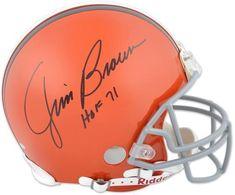 473ac02222e Cleveland Browns Jim Brown Hall of Fame Autographed Helmet - Fanatics  Authentic Certified - Autographed NFL Helmets Sports Memorabilia