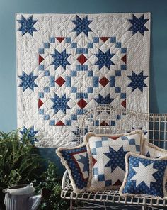 Star Around the World Quilting Pattern from the Editors of American Patchwork & Quilting Star Quilt Blocks, Star Quilt Patterns, Star Quilts, Quilting Ideas, Cute Quilts, Easy Quilts, Mini Quilts, American Patchwork And Quilting, Patriotic Quilts
