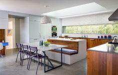 Midcentury-inspired kitchen.