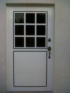 Puerta de aluminio blanco nueva ideas for the house for Puertas blancas con vidrio