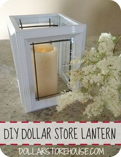 DIY Dollar Store Lantern - next table scape for high school