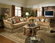 Villa Valencia Tufted Sofa Set | AICO | Home Gallery Stores