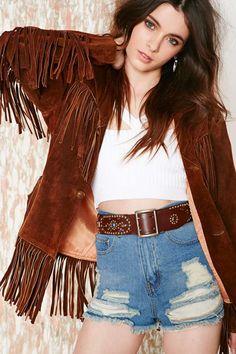 Vintage Dakota Fringe Jacket