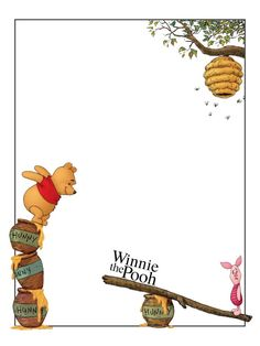 """Winnie the Pooh - Piglet - beehive - Project Life Journal Card - Scrapbooking ~~~~~~~~~ Size: 3x4"""" @ 300 dpi. This card is **Personal use only - NOT for sale/resale** Logo/picture/clipart belong to Disney. *** Click through to photobucket for a version with no """"Winnie the Pooh"""" text***"""