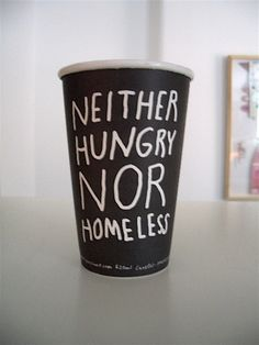 Message on coffee cup