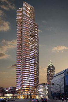 "Proposed ""Wohnhochhaus Tower 2"", Frankfurt by Magnus Kaminiarz & Cie. edited by c l o u d s c r a p e r s"