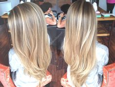 Sun kissed blonde balayage is always a win.  Cut & color by Alexandria